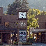 """""""The Clock Tower"""" in Downtown Danville. At the intersection of Diablo & Hartz"""
